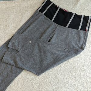 Lululemon Cropped Grey Workout Pants